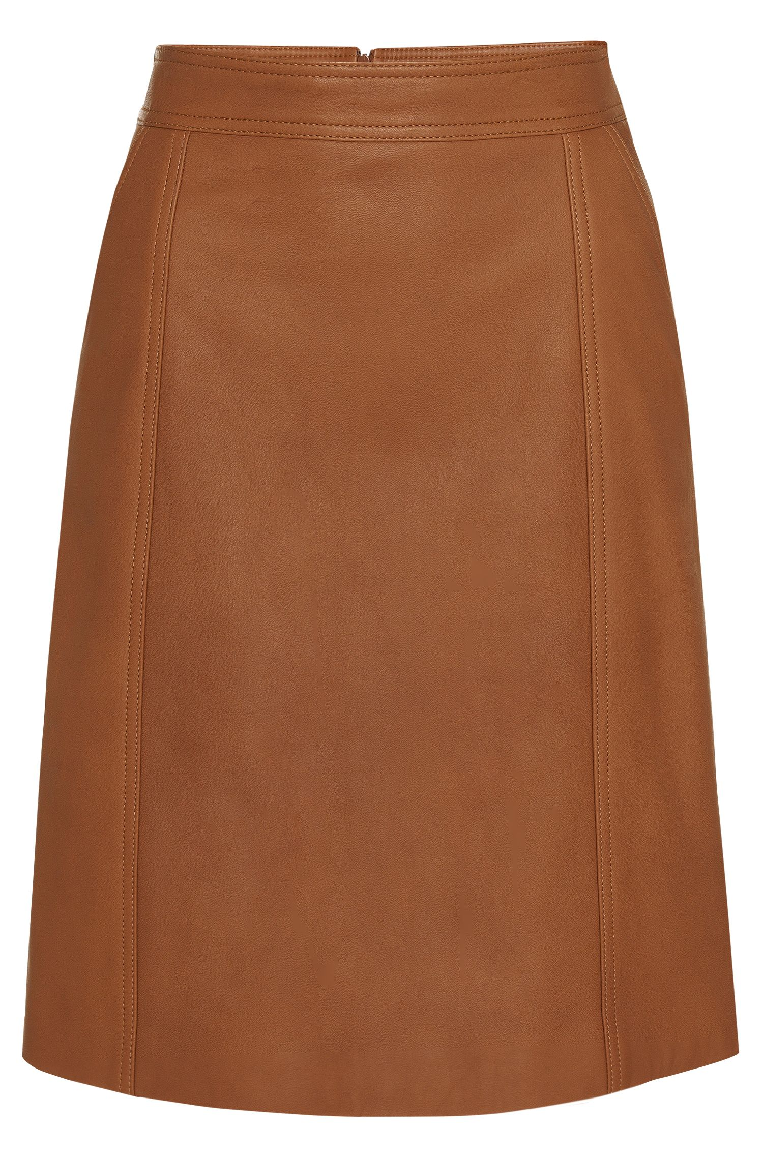 Leather skirt with a slightly flared fit: 'Sepai'