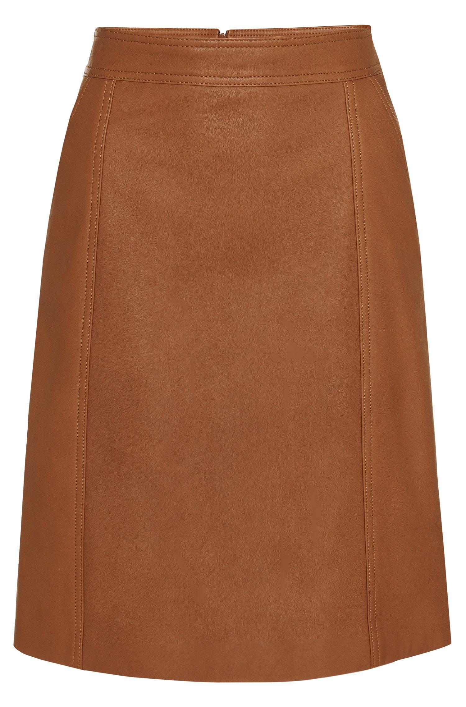 Lederrock in leicht ausgestellter Passform: 'Sepai'