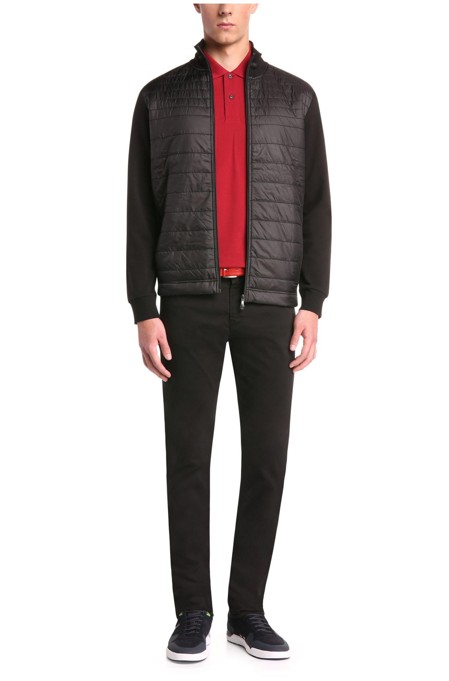 Jerseyjas van een elastische katoenmix met gestikte voorkant: 'C-Pizzoli'