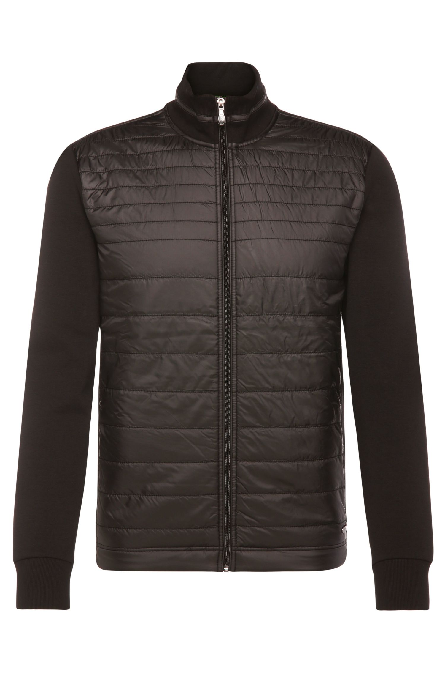 Jersey jacket in stretch cotton blend with quilted front: 'C-Pizzoli'
