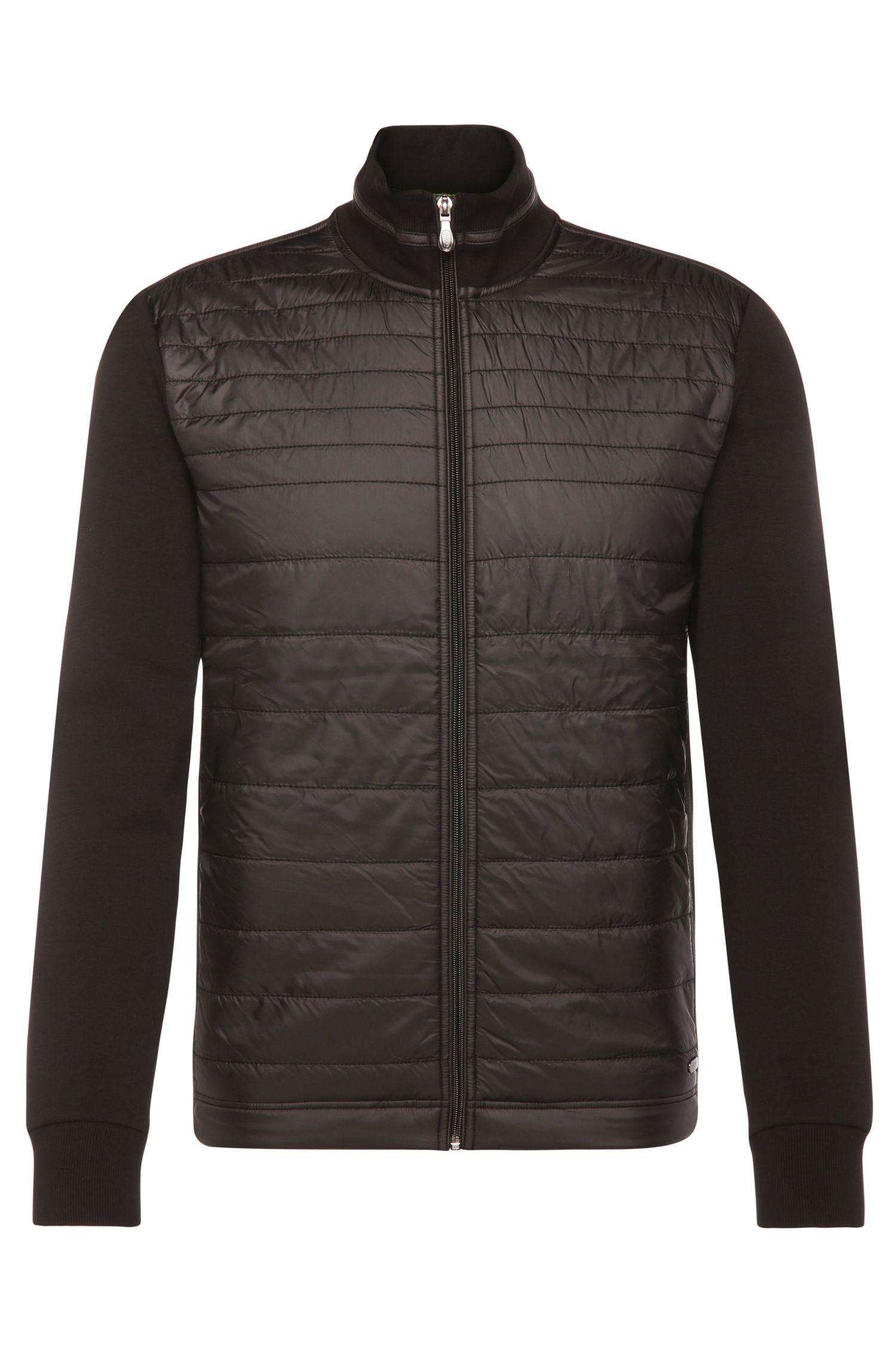 Jersey-Jacke aus elastischem Baumwoll-Mix mit gesteppter Vorderseite: ´C-Pizzoli`