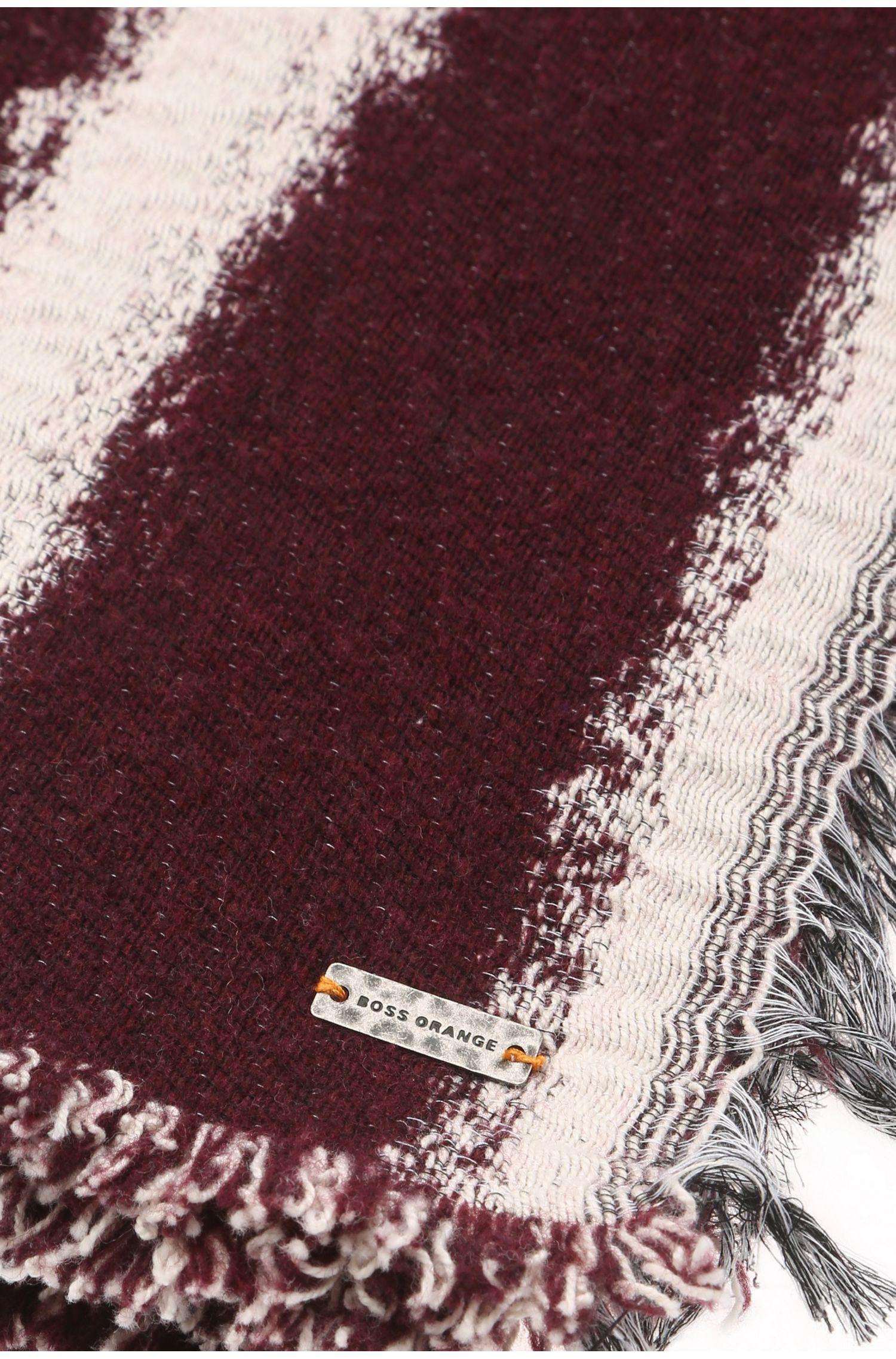 Écharpe à rayures en coton mélangé: «Nacape»