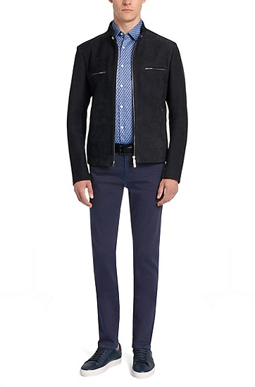 Slim-Fit Jeans aus Stretch-Baumwolle: 'Delaware3', Dunkelblau