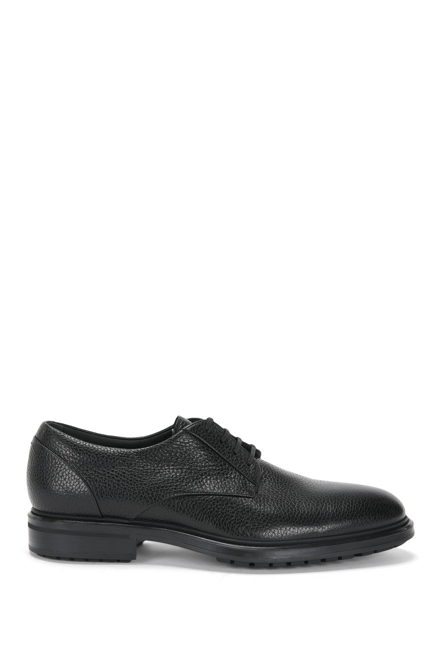 Leather lace-up shoes with warm lining: 'Warsaw_Derb_grpt'