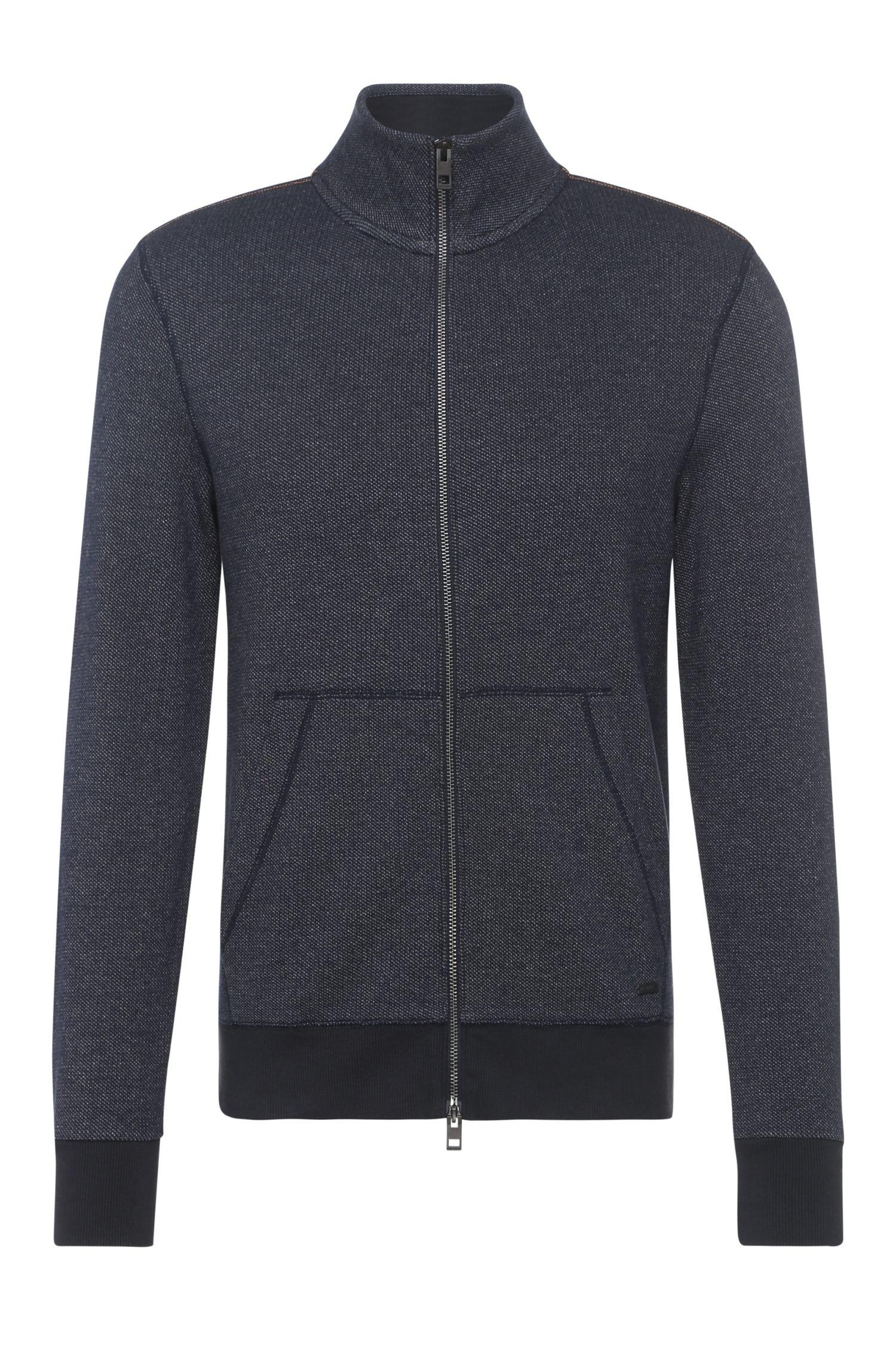 Sweatshirt-Jacke aus stark texturierter Baumwolle: ´Ztark`