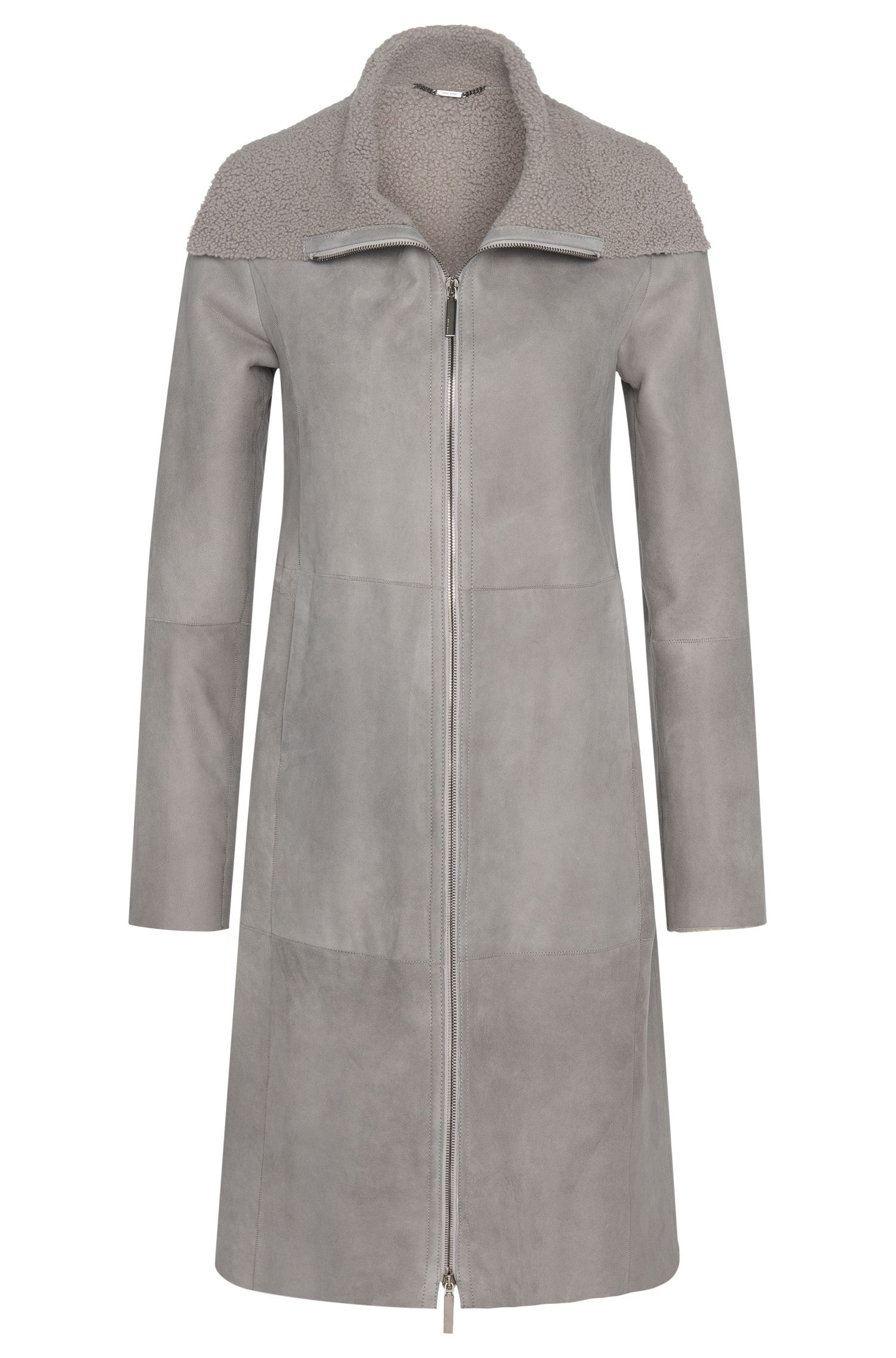 Leather coat with lambskin lining: 'Soufy'