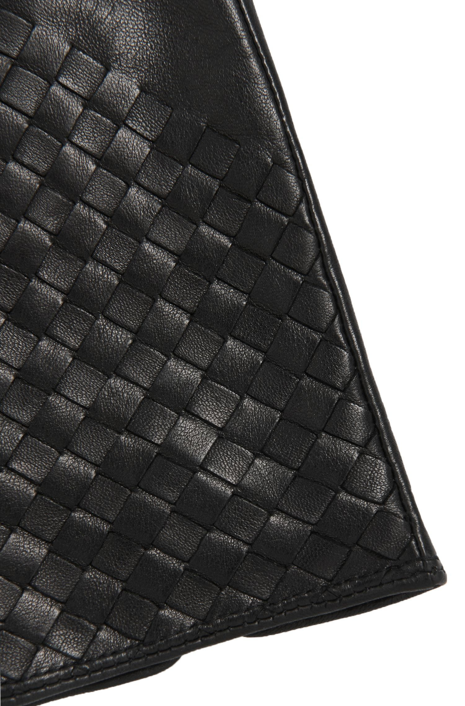 Handschuhe aus Leder mit Flecht-Details: 'Goory'