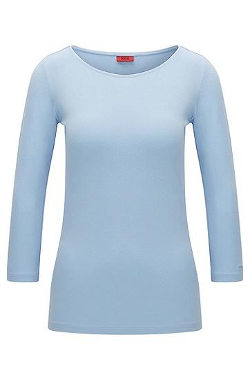T-shirt uni en viscose stretch : « Dannela »
