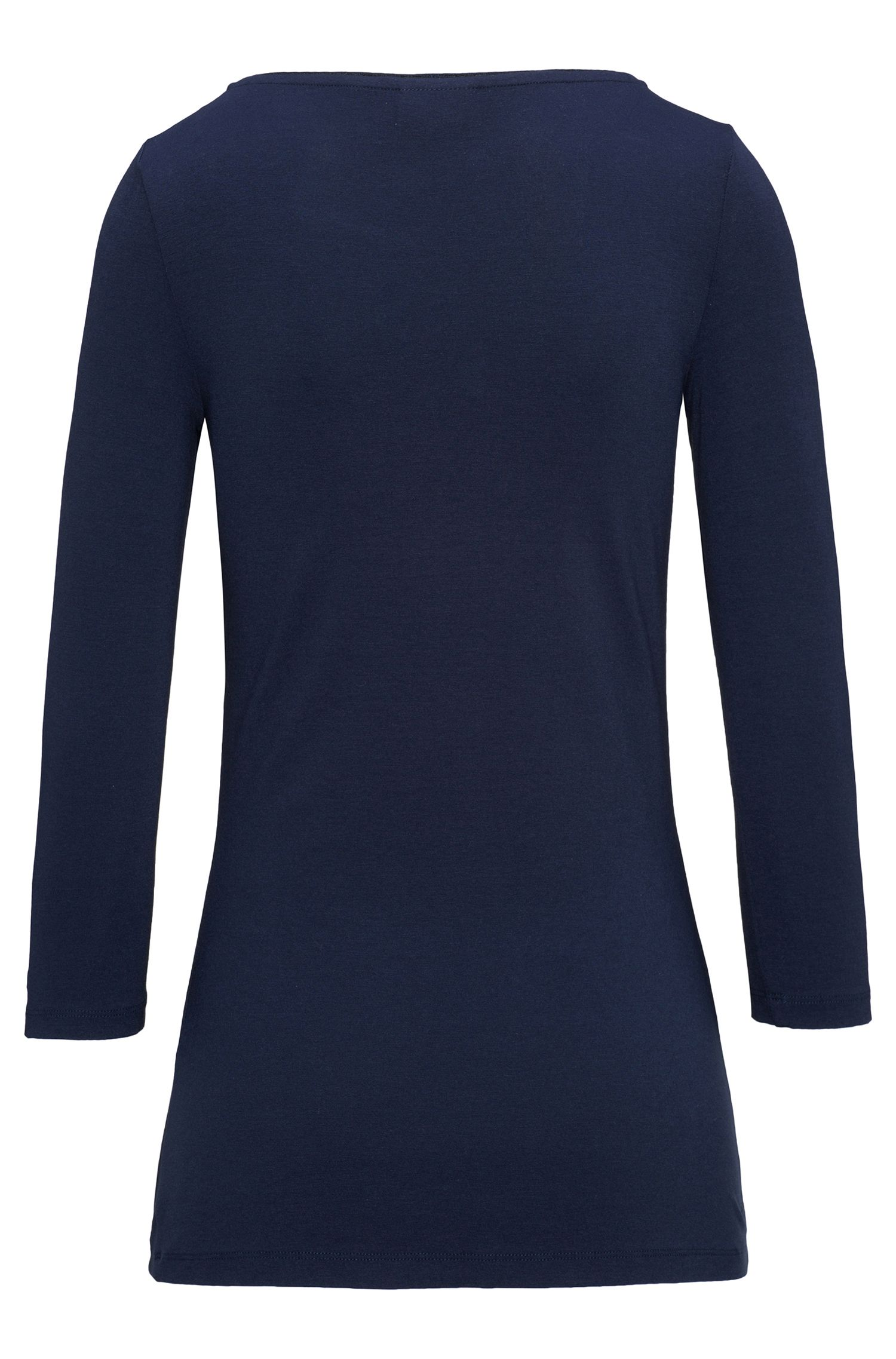 T-shirt uni en viscose stretch : « Dannela »