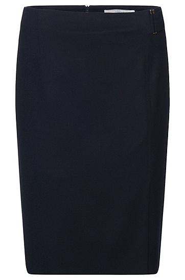 Rock aus elastischer Schurwolle mit Riegel-Element: 'Vyflena', Hellblau