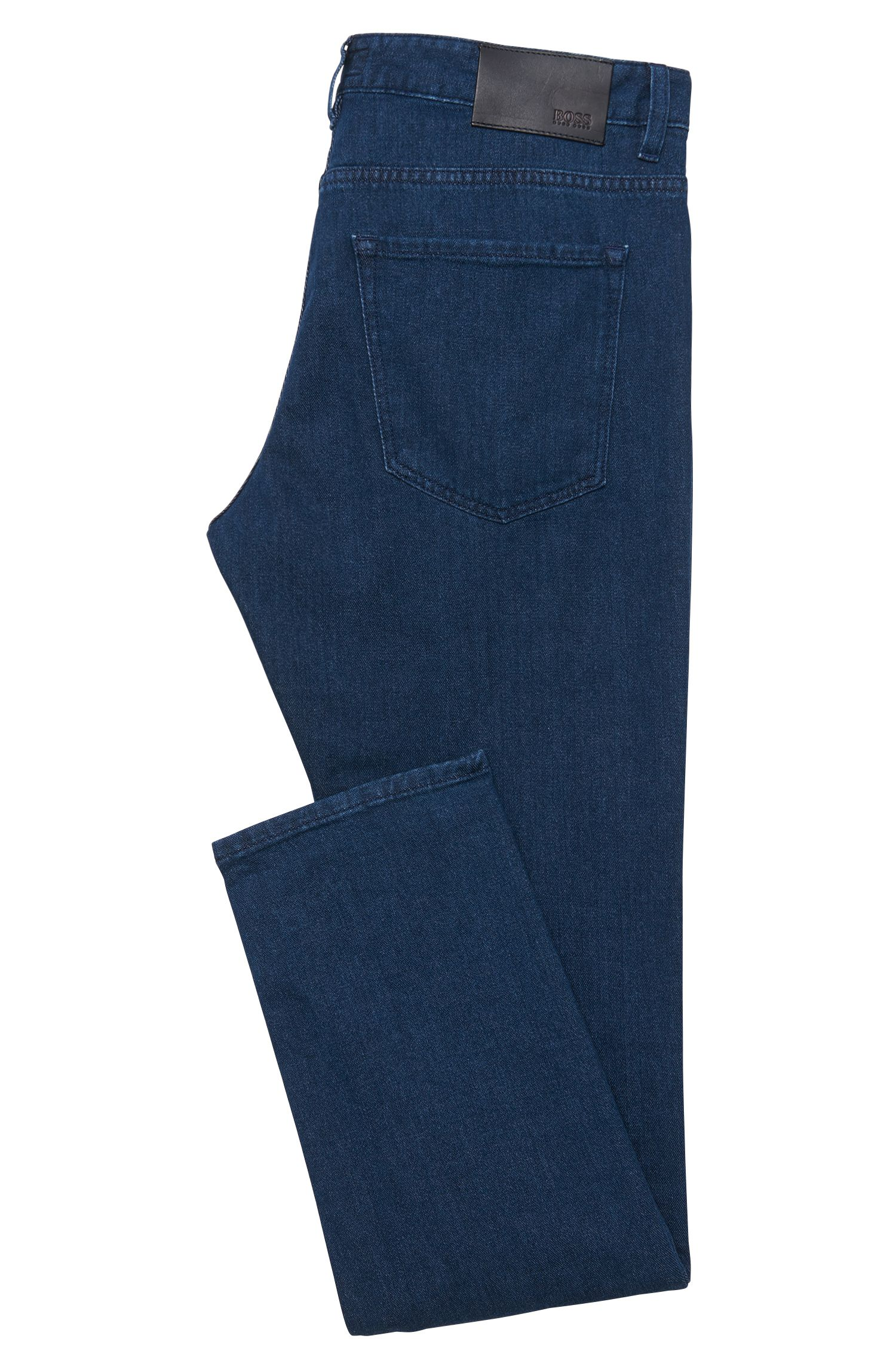 Jeans Slim Fit en coton stretch à la finition rinsed : « Delaware3-1 »