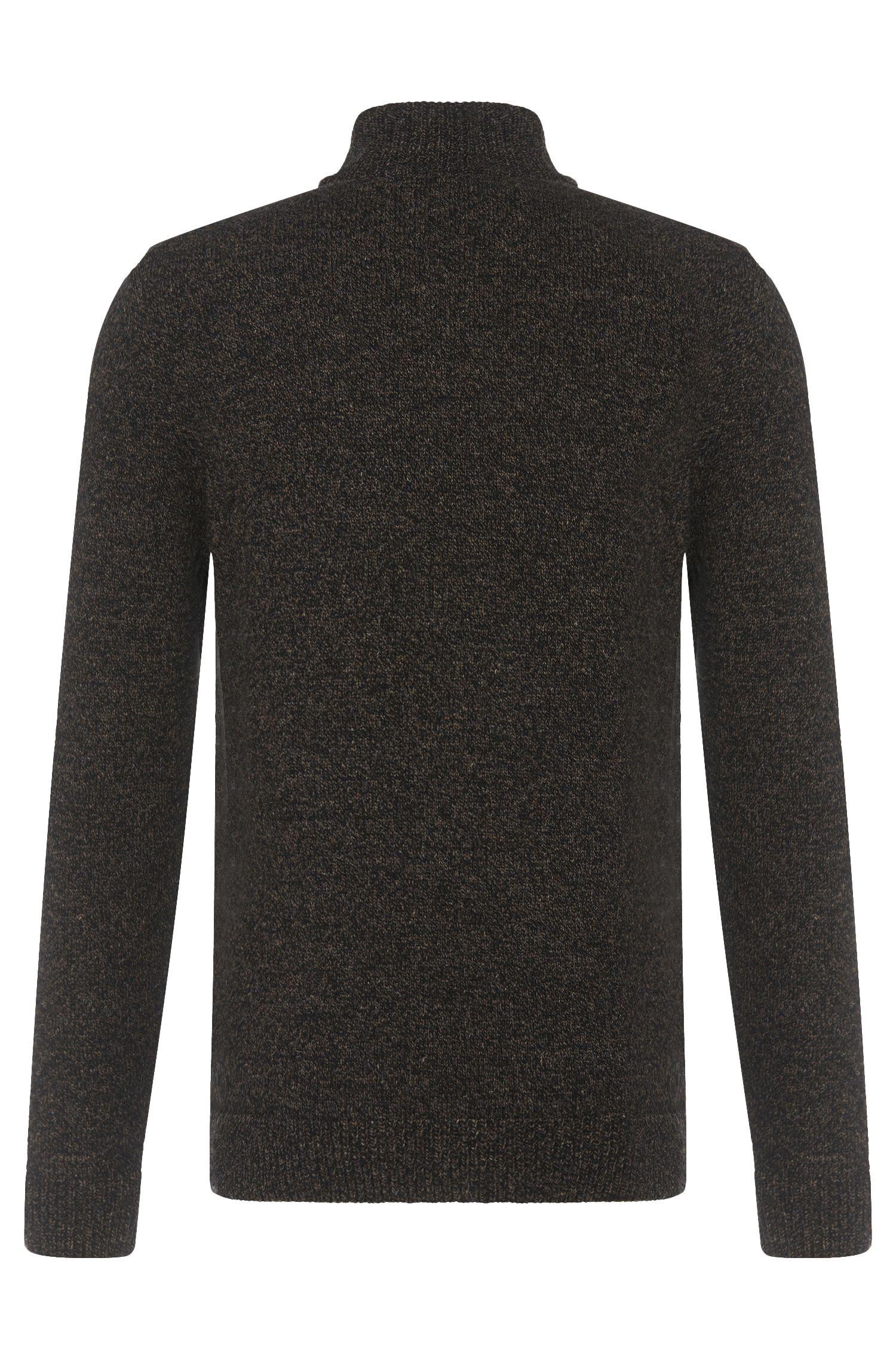 Melierter Regular-Fit Pullover aus Woll-Mix mit Leinen-Anteil: 'Belmonte'