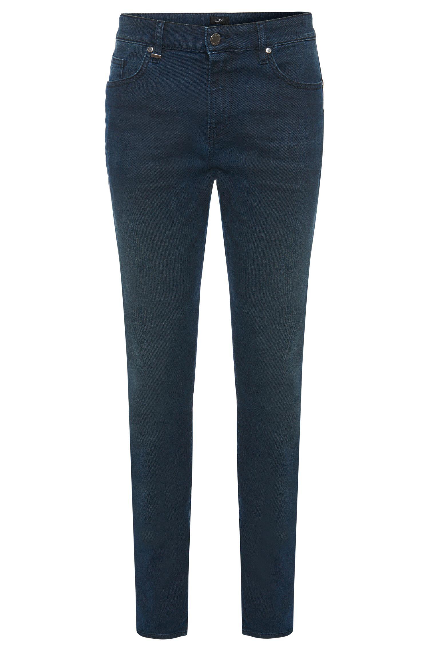 Slim-fit jeans van een katoenmix met subtiele zitvouwen: 'Delaware3-1'
