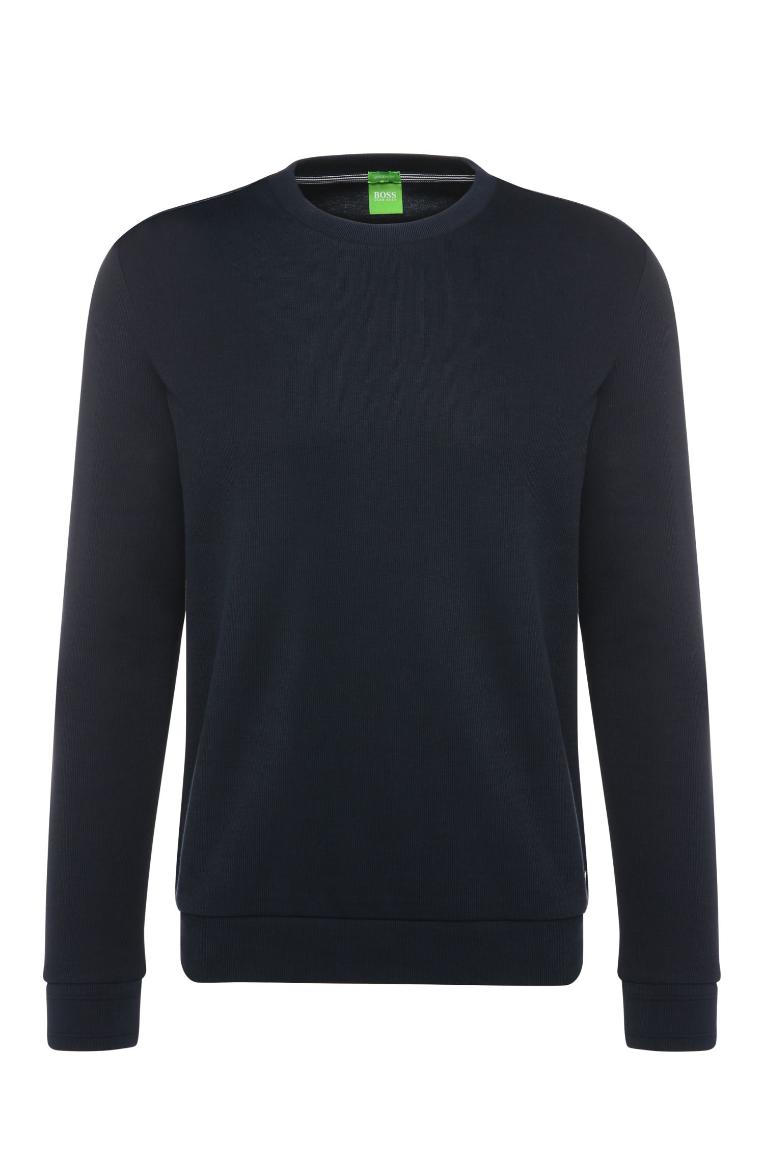 Regular-fit sweater in cotton: 'Salbo 1'