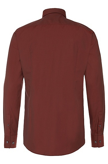 Slim-Fit Hemd aus Baumwolle: 'Jason', Rot