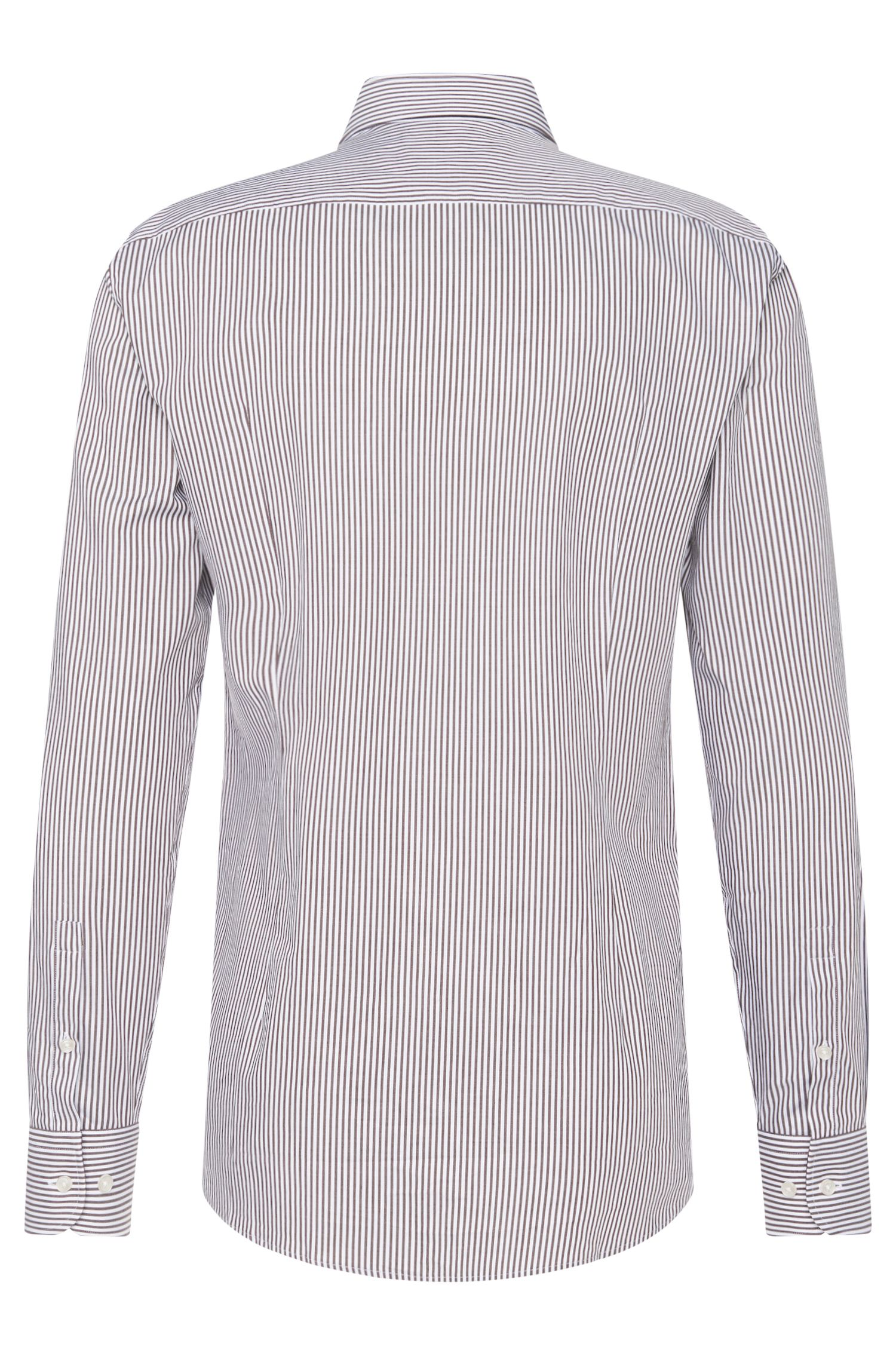 Gestreept slim-fit overhemd van katoen: 'Jery'
