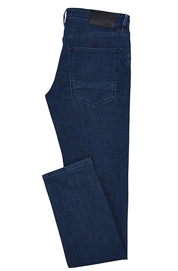 Slim-Fit Jeans aus Stretch-Baumwolle in Rinsed-Optik: 'Charleston3', Dunkelblau
