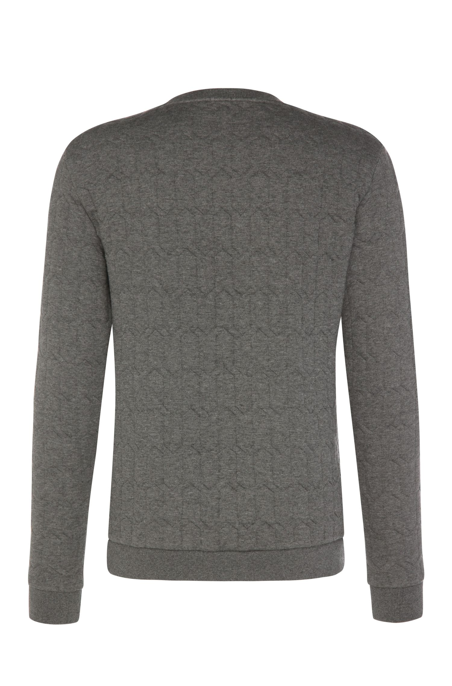 Regular-Fit Sweater aus meliertem Baumwoll-Mix: ´Salbo 3`