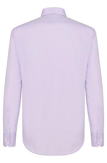 Unifarbenes Regular-Fit Hemd aus Baumwolle: 'Enzo', Flieder