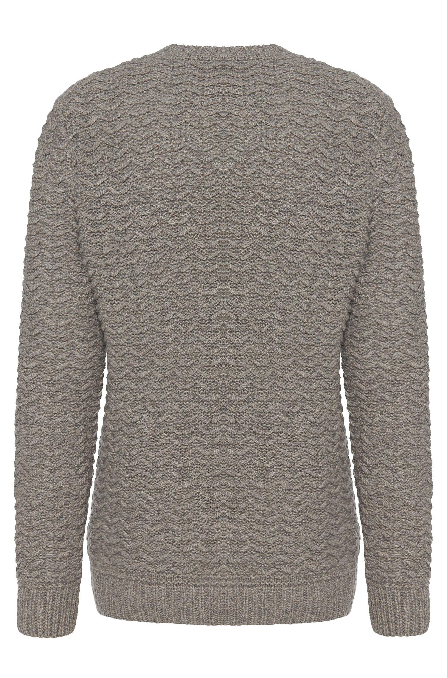 Regular-Fit Pullover aus elastischem Woll-Mix mit Leinen: 'Bellino'