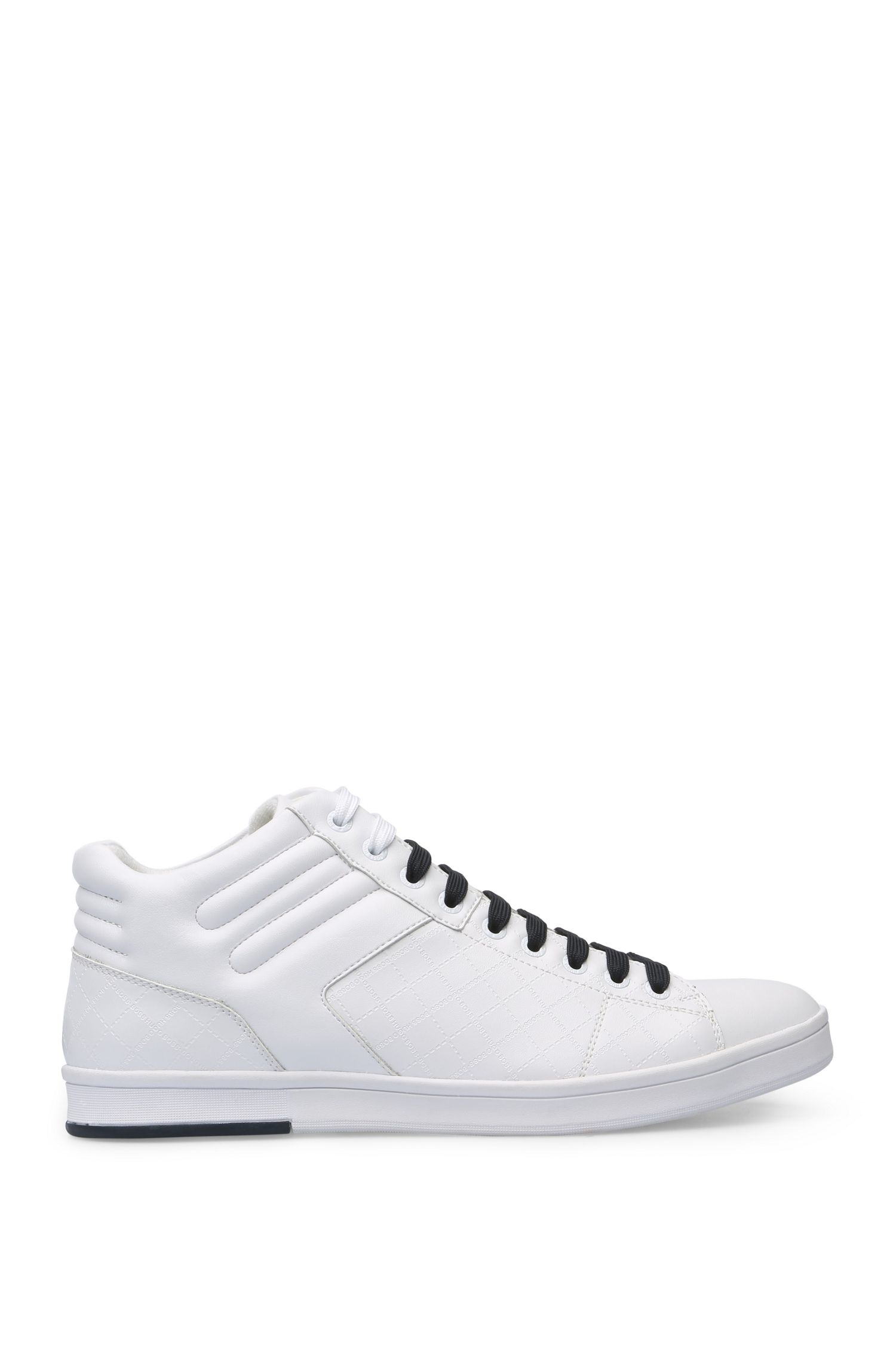 Leather trainers with embossed logo: 'RayAdv_Midc_ltem'