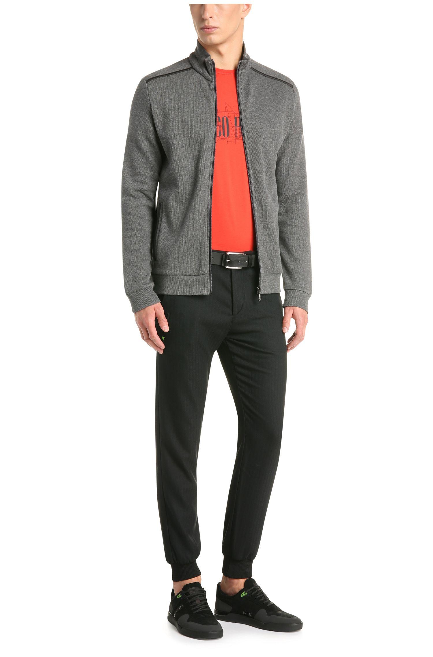 Regular-Fit Sweatshirt-Jacke aus reiner Baumwolle: ´C-Cannobio`