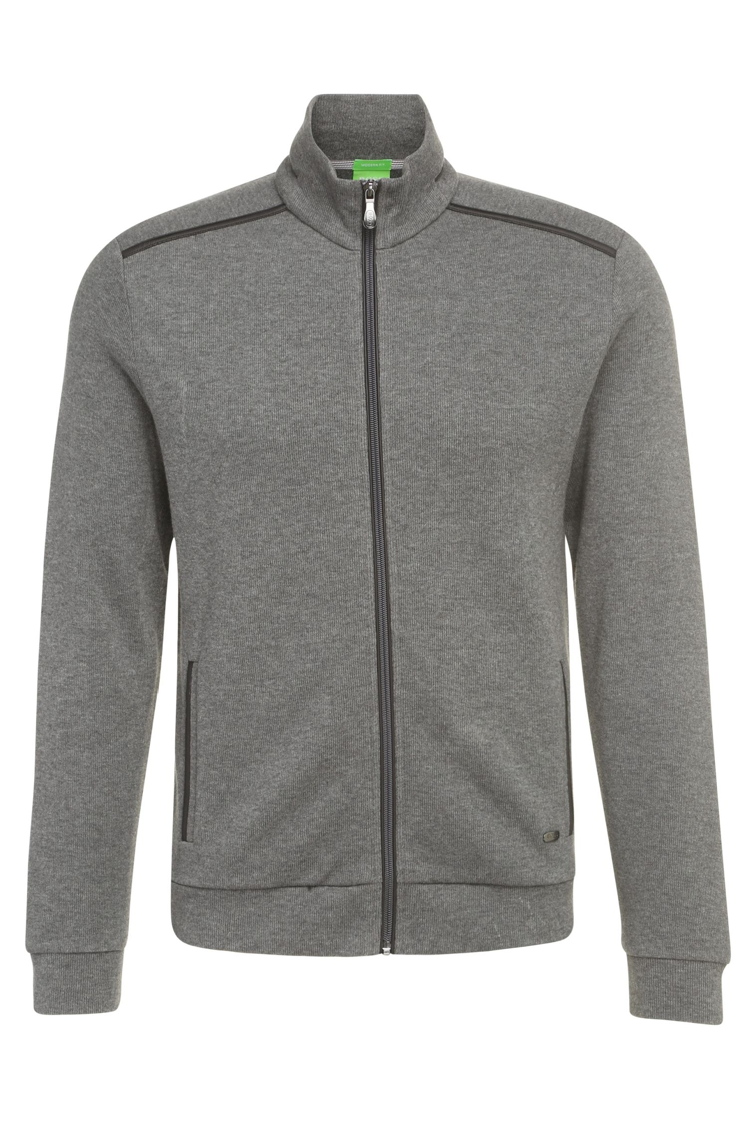 Regular-Fit Sweatshirt-Jacke aus reiner Baumwolle: ´C-Cannobio`