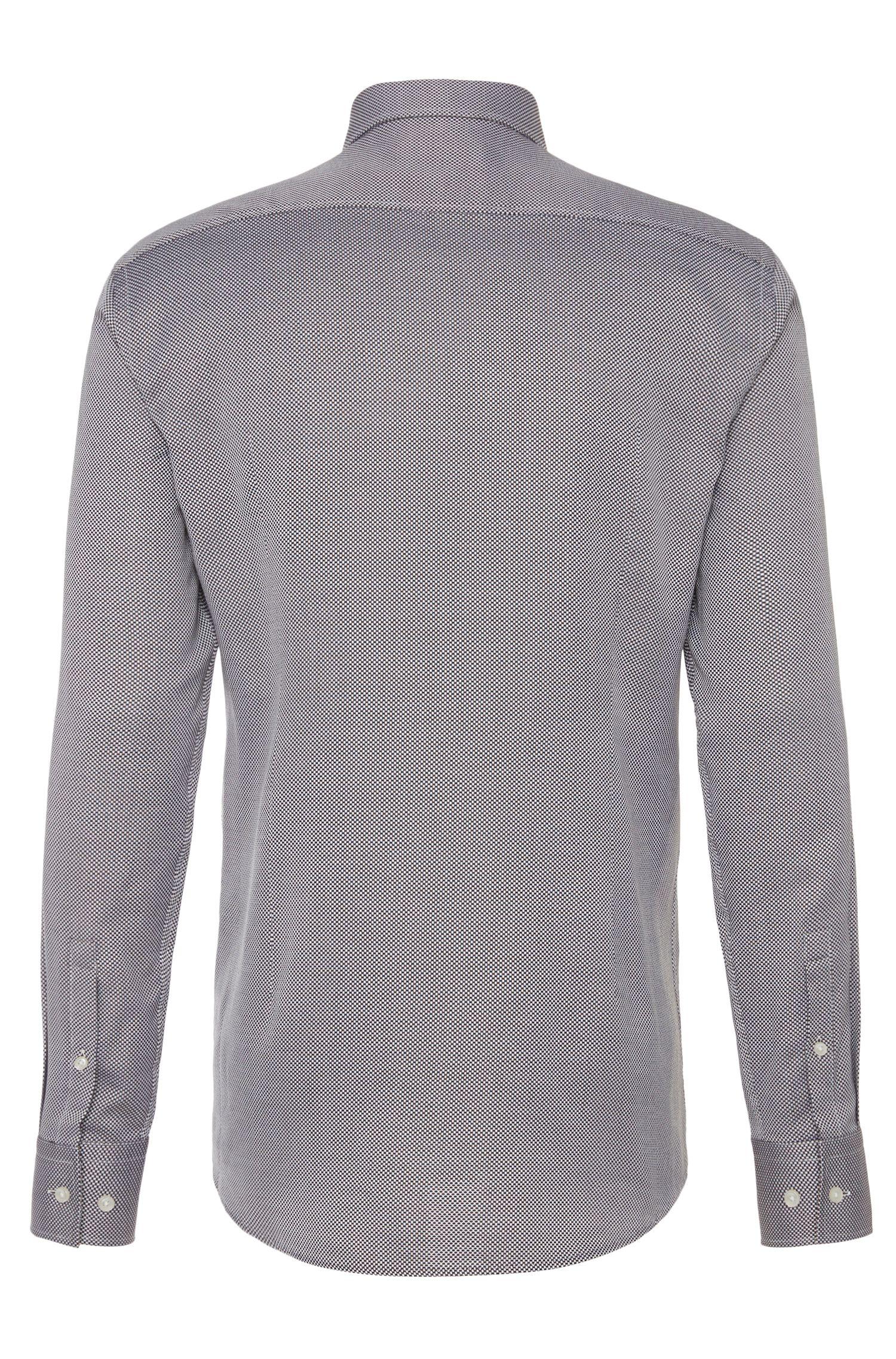 Chemise Slim Fit à motif en coton: «Jason»