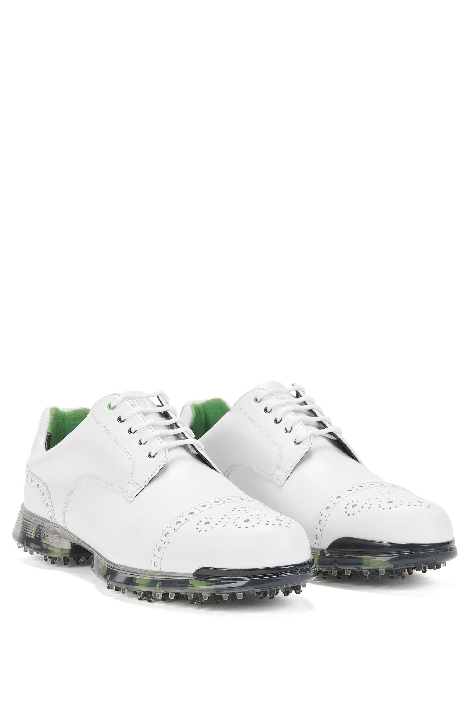Golfschoenen van leer met Lyra-gaatjes: 'Golfpro_Golf_ltct'