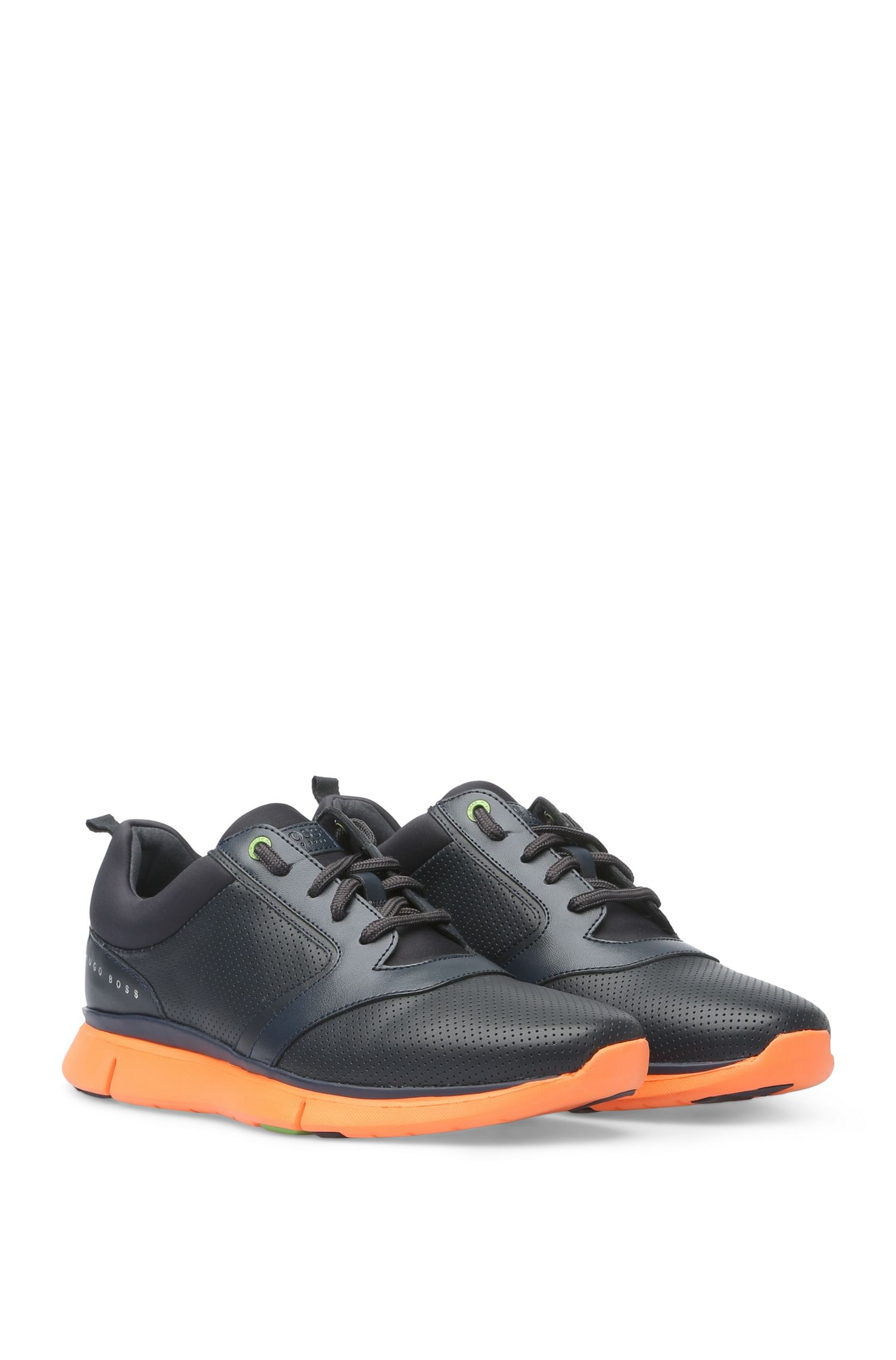Sneakers im Material-Mix mit Perforation: ´Gym_Runn_ltpf`