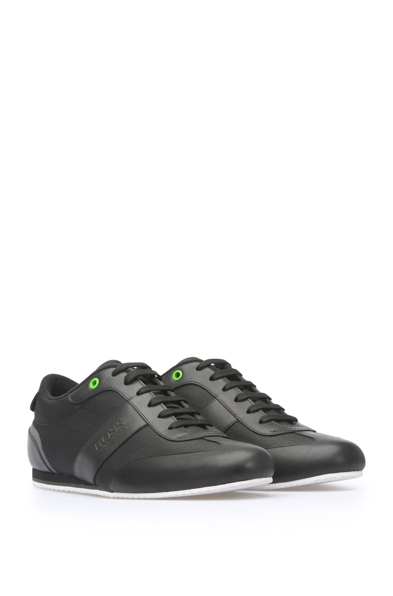 Sneakers aus gemustertem Textil und Leder: ´Lighter_Lowp_nyhr`
