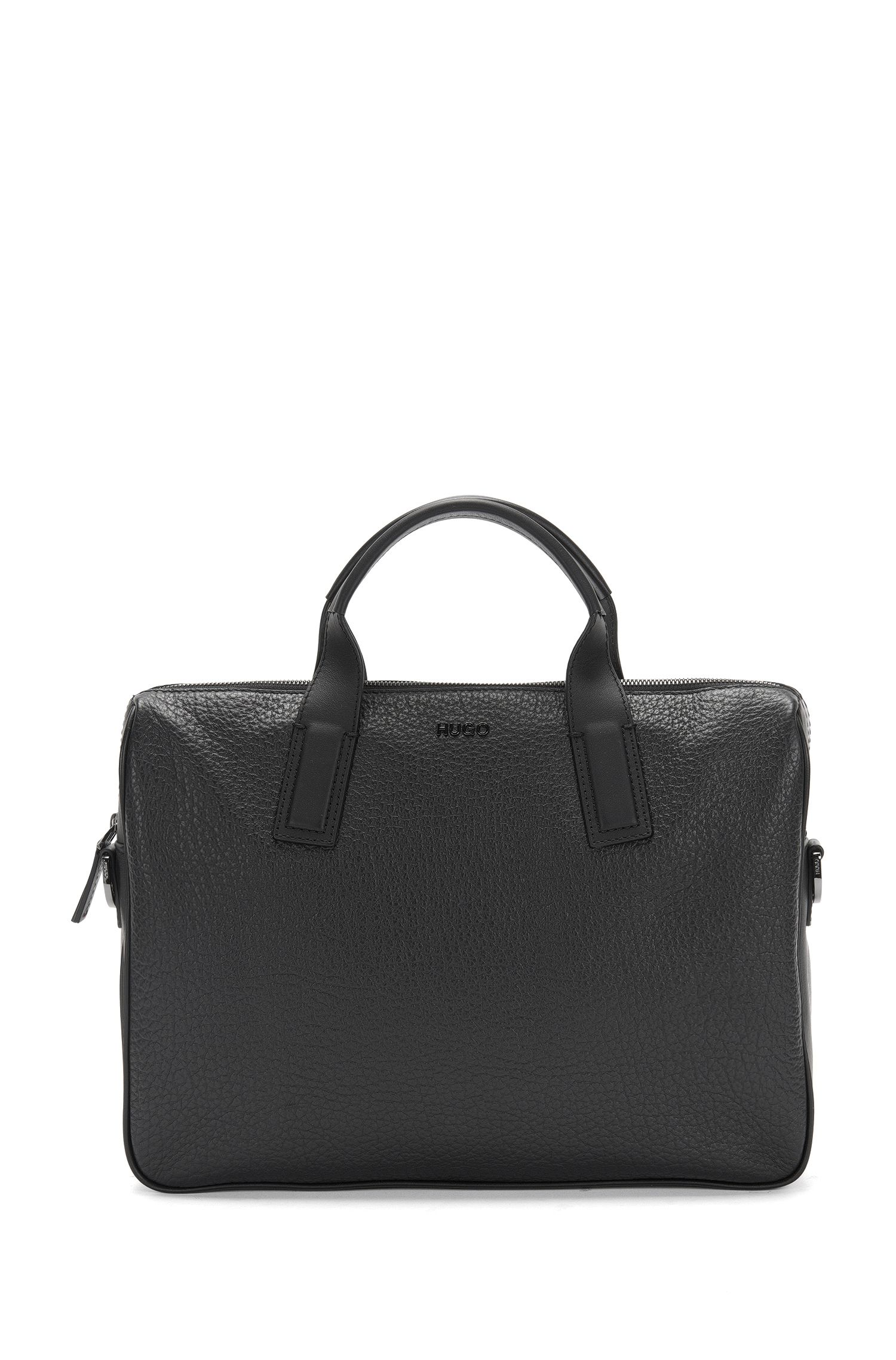 Leather work bag with shoulder straps: 'Neoclassic_S doc'