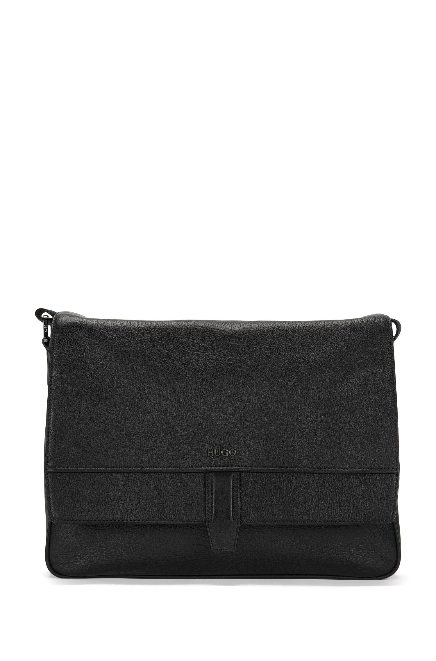 Shoulder bag in embossed leather: 'Neoclassic_Mess flap'