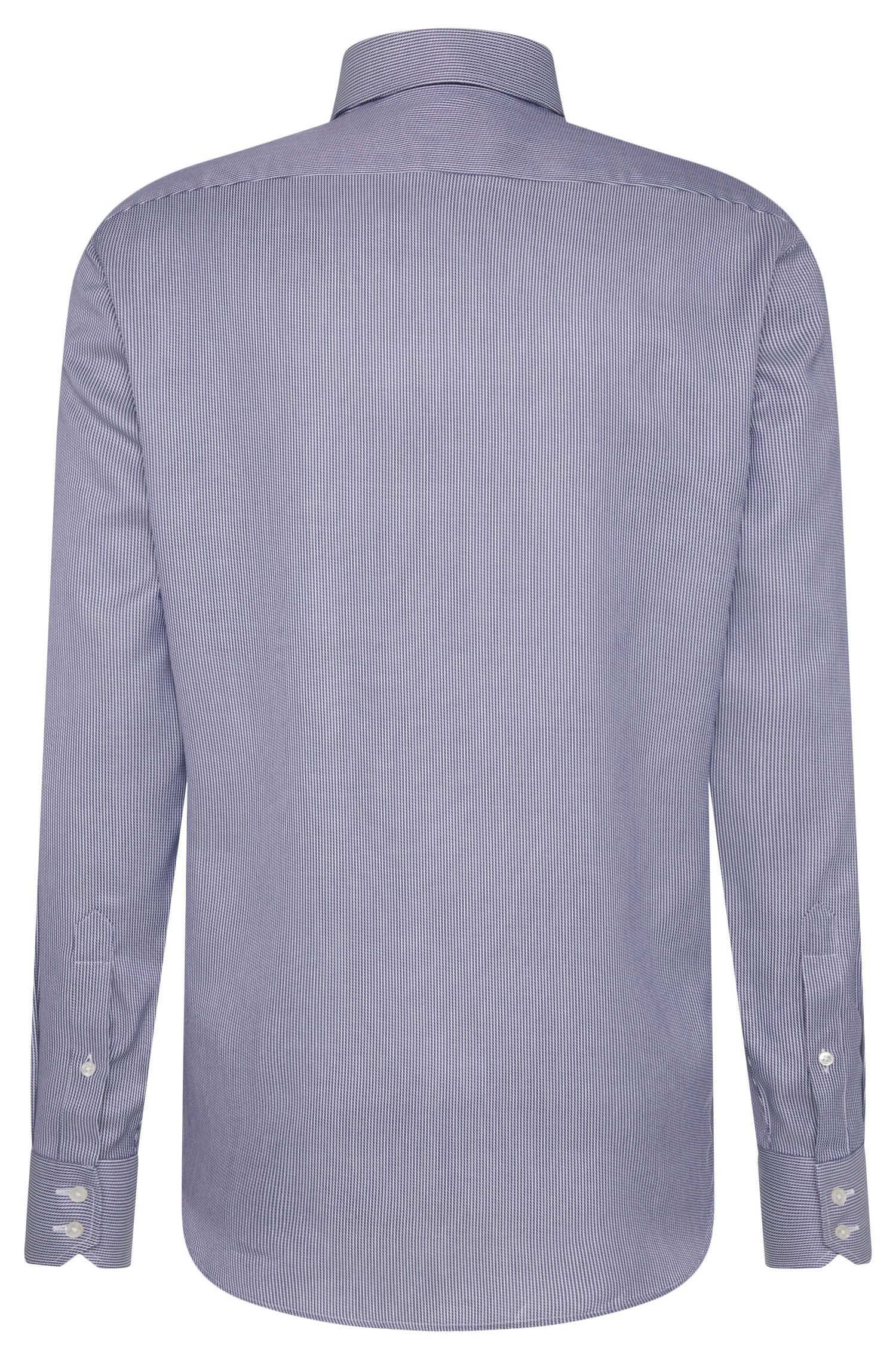 Regular-fit overhemd van katoen met dessin: 'Enzo'