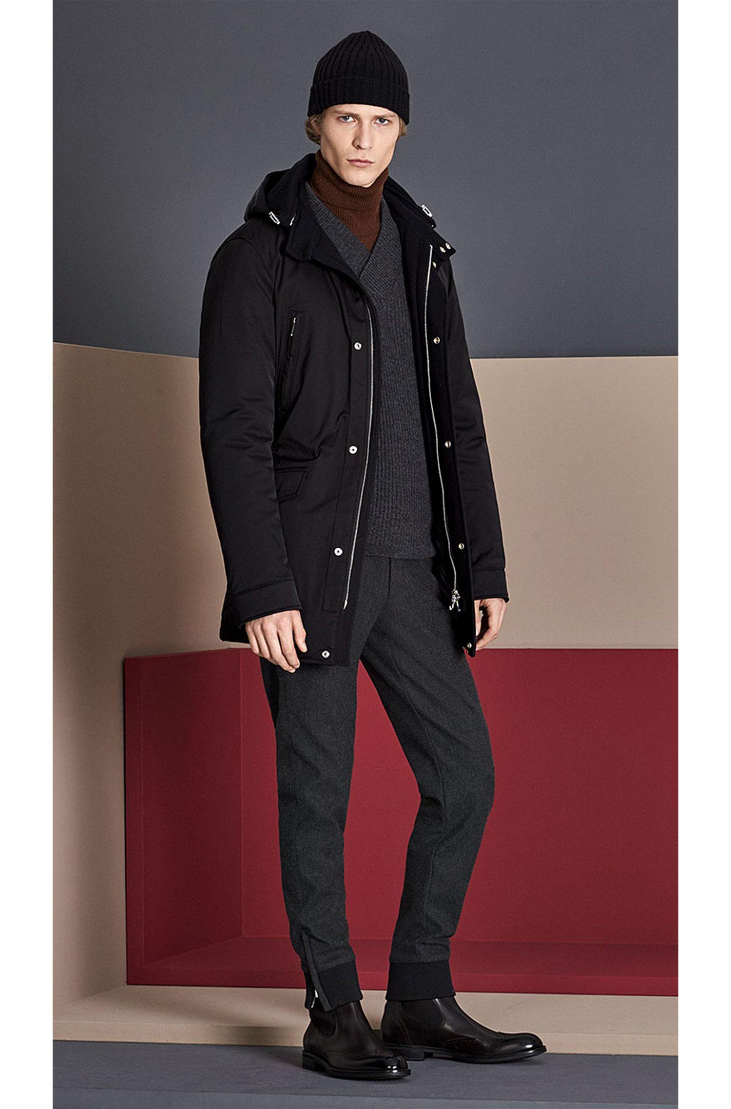 Slim-Fit Tailored Pullover aus Schurwoll-Mix mit Alpaka-Anteil: 'T-Bressano'
