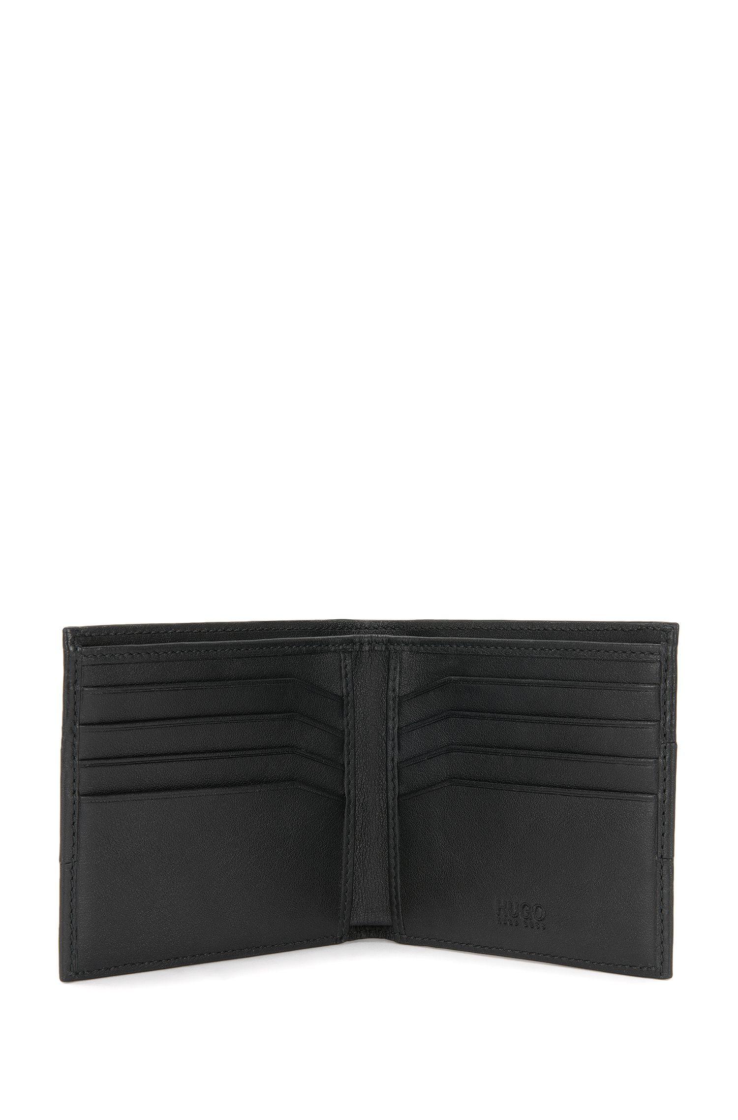 Porte-monnaie en cuir aux structures mélangées: «Neoclassic_8 cc»