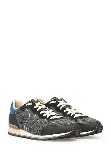 Sneakers aus Material-Mix: ´Parkour_Runn_cohr`, Schwarz