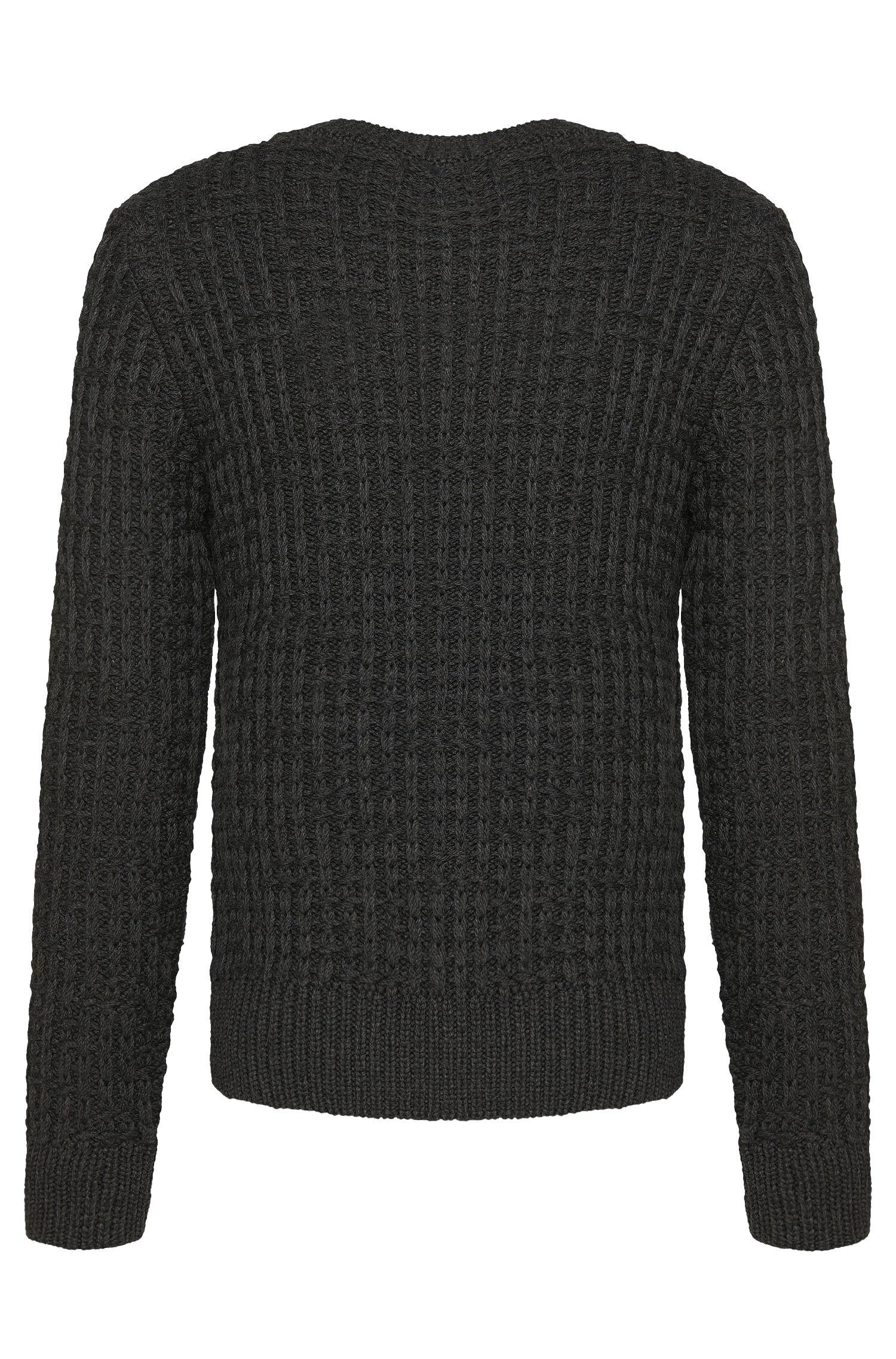 Slim-Fit Tailored Pullover aus Schurwoll-Mix mit Strick-Muster: 'T-Buccino'