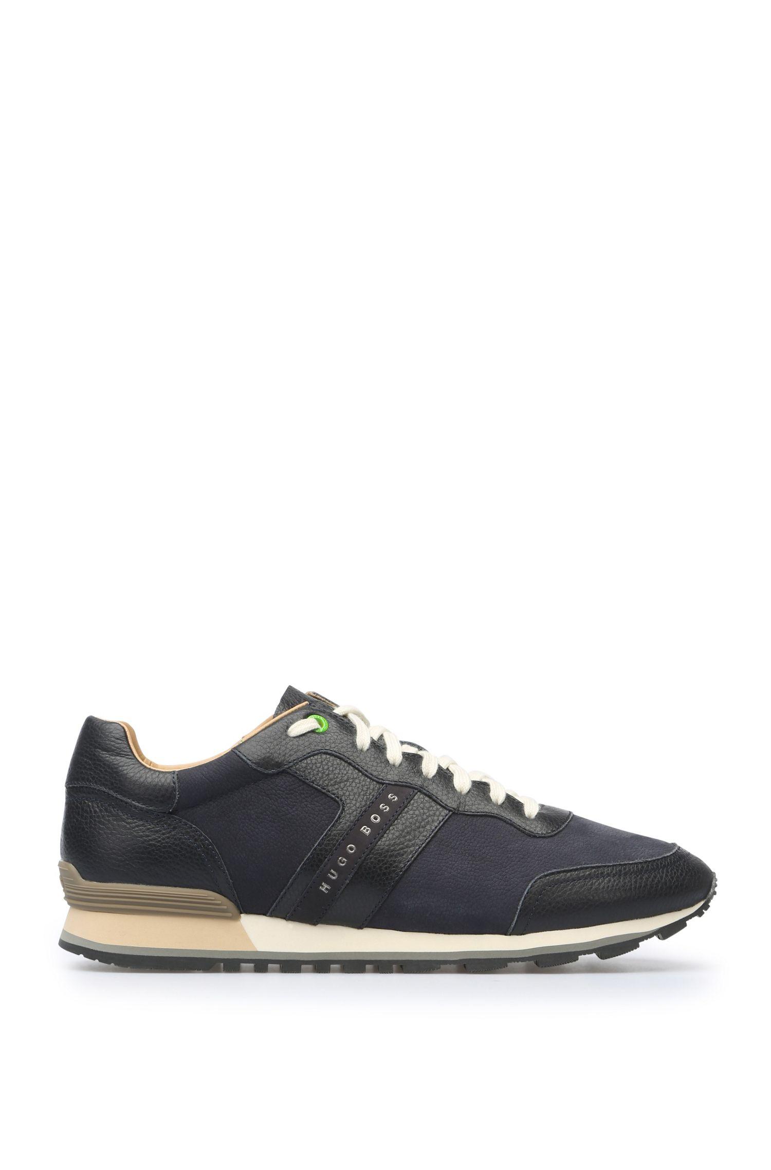 Sneakers van een leermix: 'Parkour_Runn_ltgr'