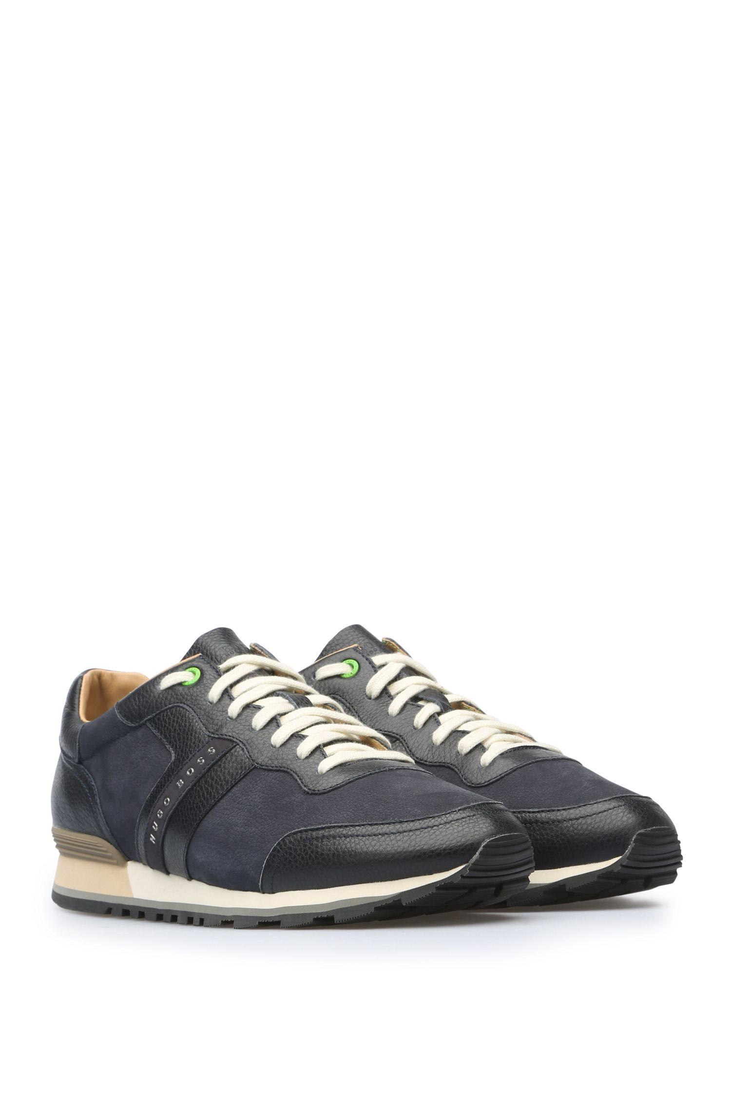 Sneakers aus einem Leder-Mix: ´Parkour_Runn_ltgr`