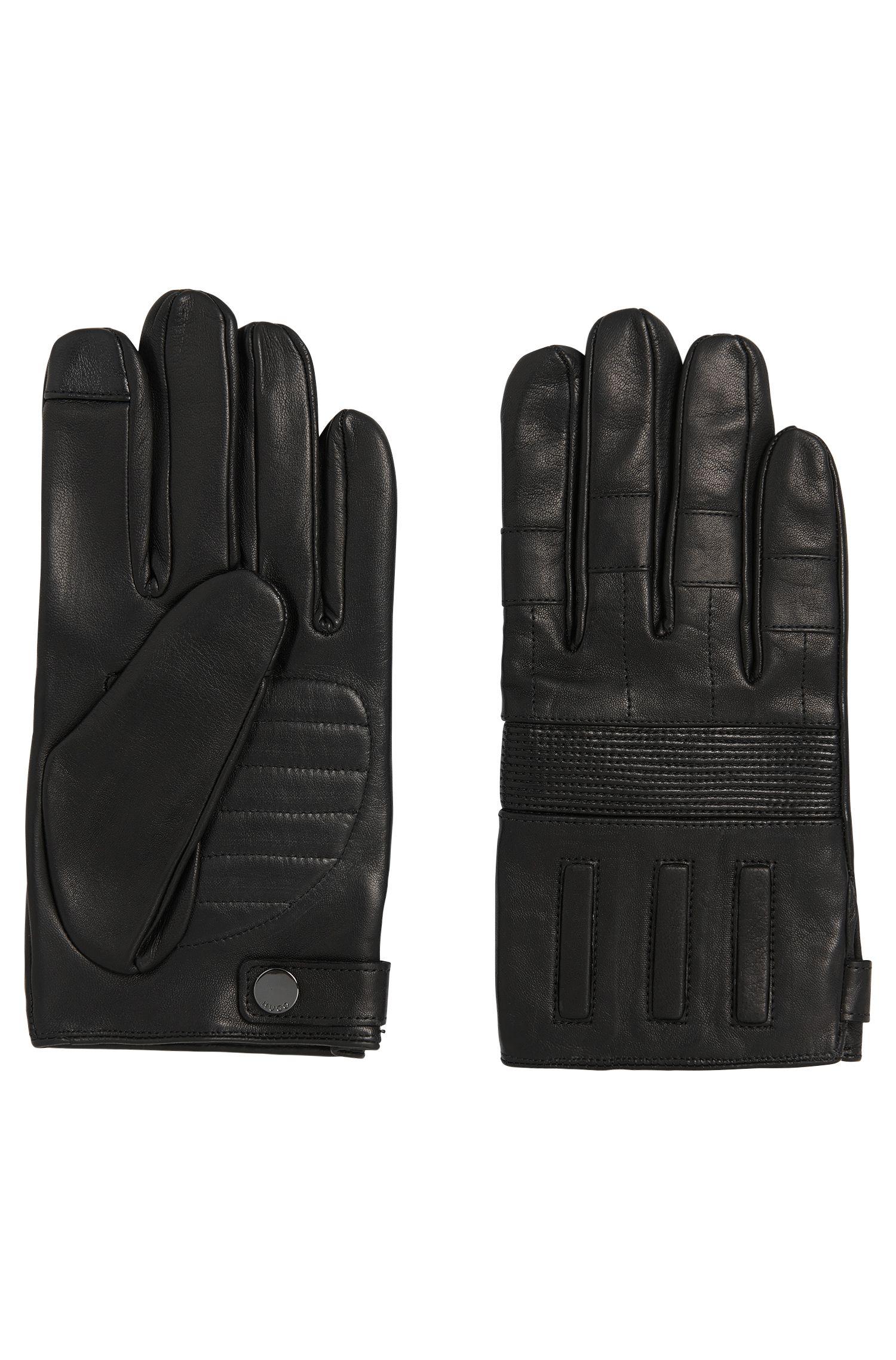 Handschoenen van leer met kasjmiervoering: 'HH 121'