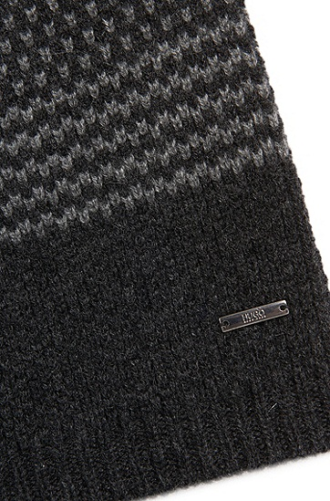 Melierte Mütze aus Kaschmir: 'Men-x 530', Grau