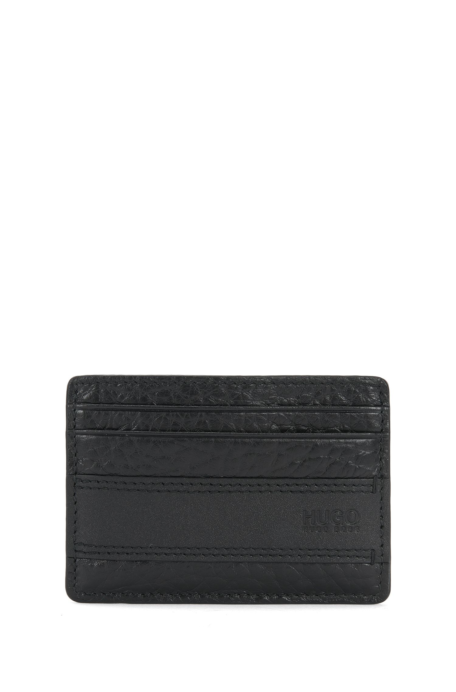 Leather card case with money clip: 'Neoclassic_money cl'