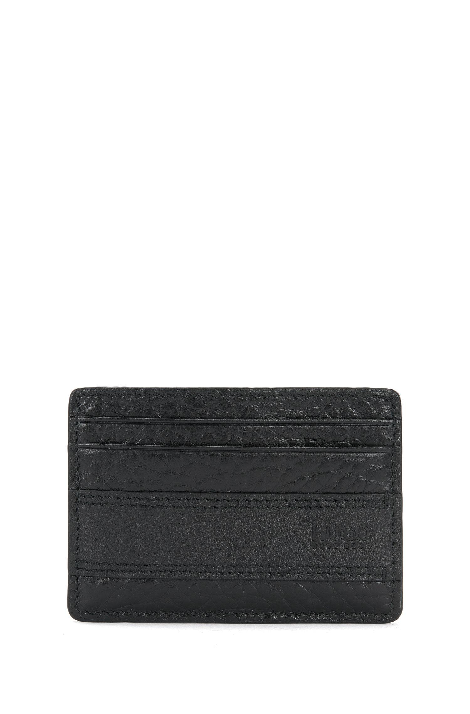 Kartenetui aus Leder mit Geldscheinklammer: 'Neoclassic_money cl'