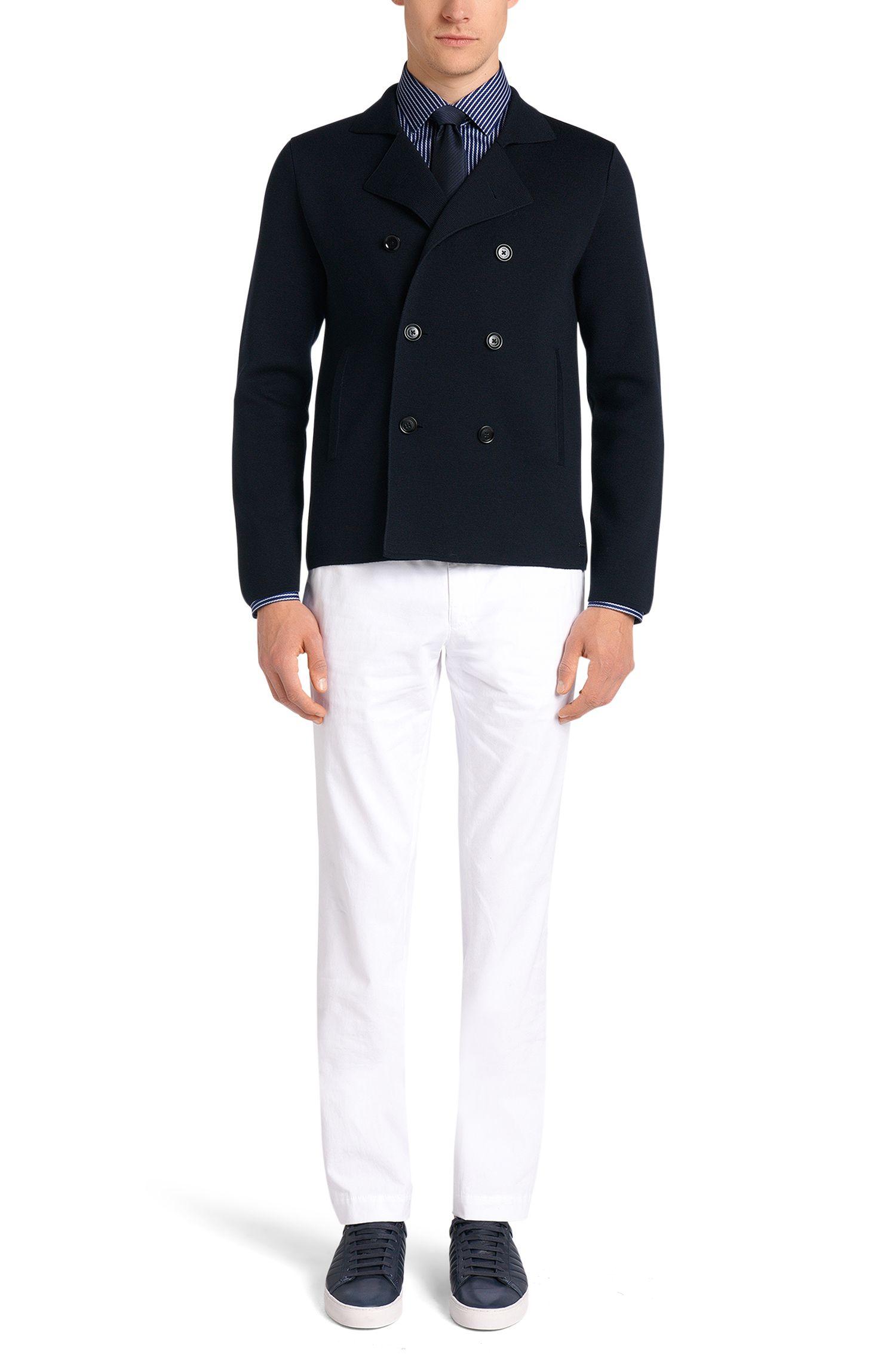 Chemise Slim Fit à rayures en pur coton: «Jenno»