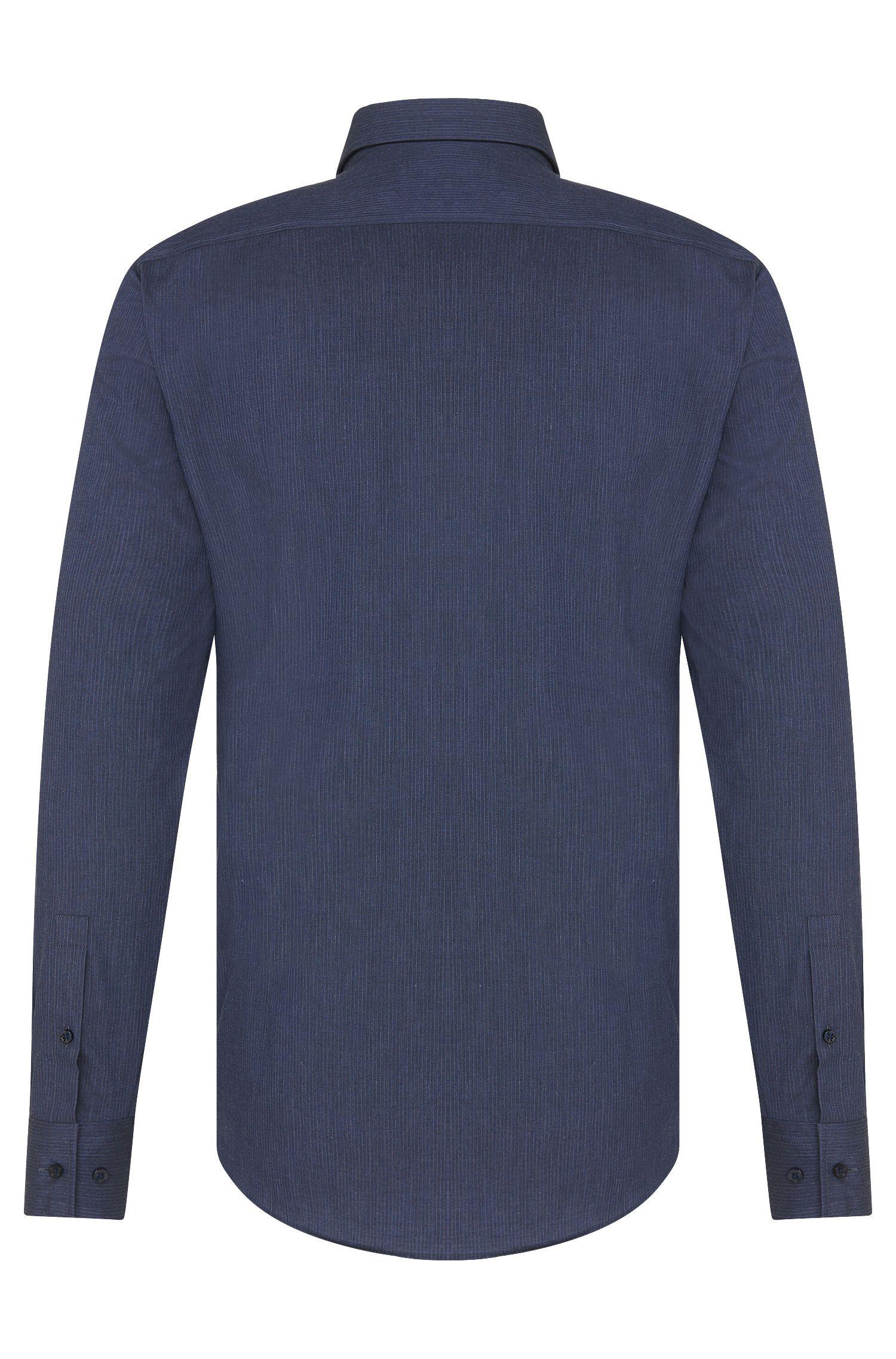 Gestreept slim-fit overhemd van zuivere katoen: 'Jenno'
