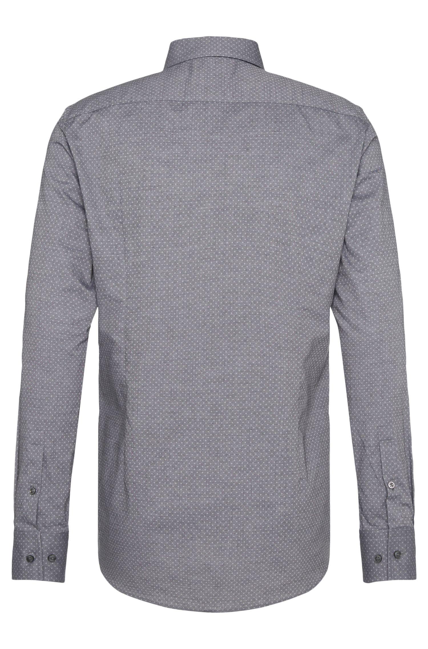 Gepunktetes Slim-Fit Hemd aus Baumwolle: 'Jenno'
