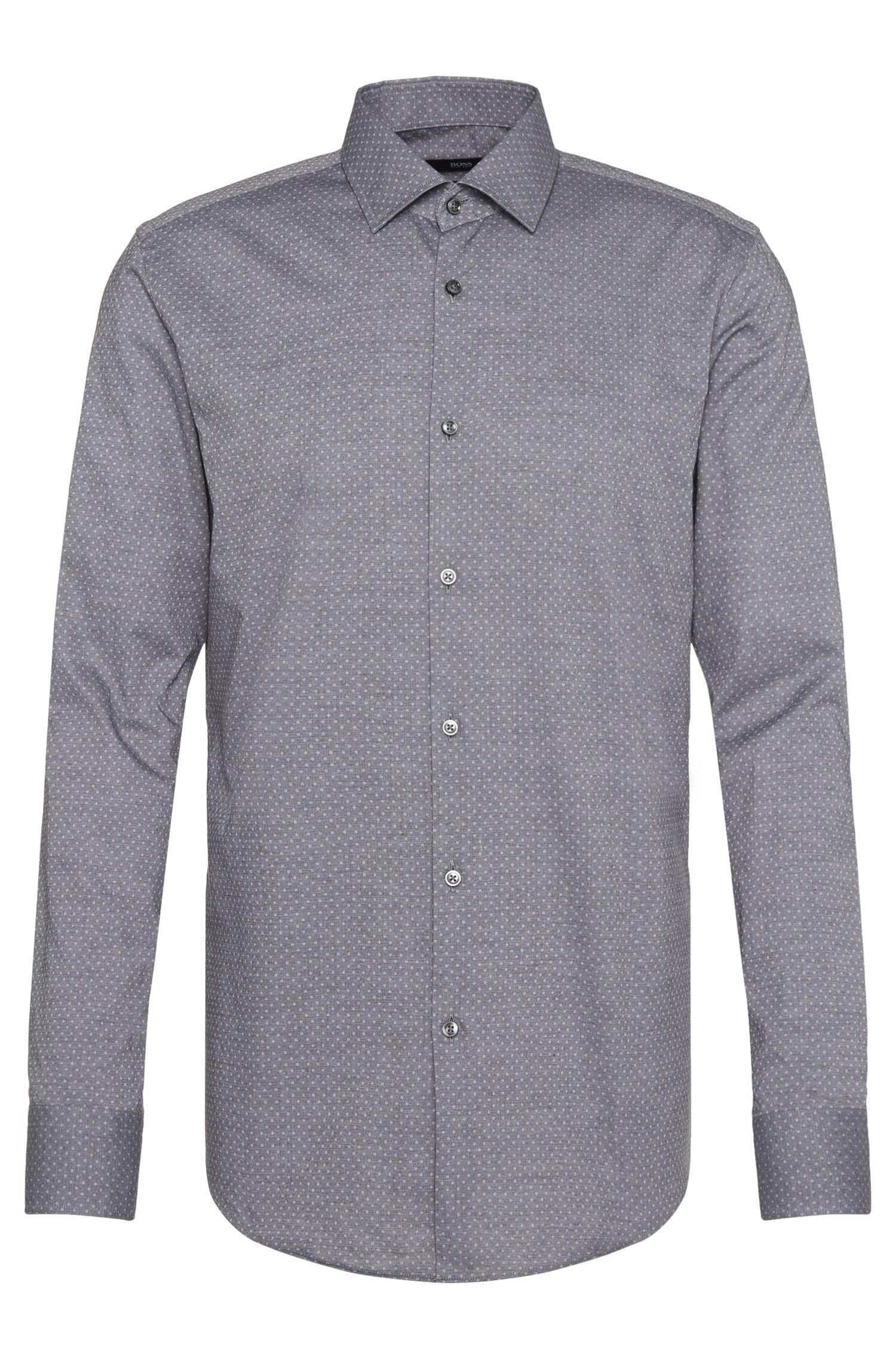 Polka-dot pattern slim-fit shirt in cotton: 'Jenno'