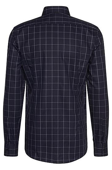 Kariertes Slim-Fit Hemd aus Baumwolle: 'Erondo', Dunkelblau
