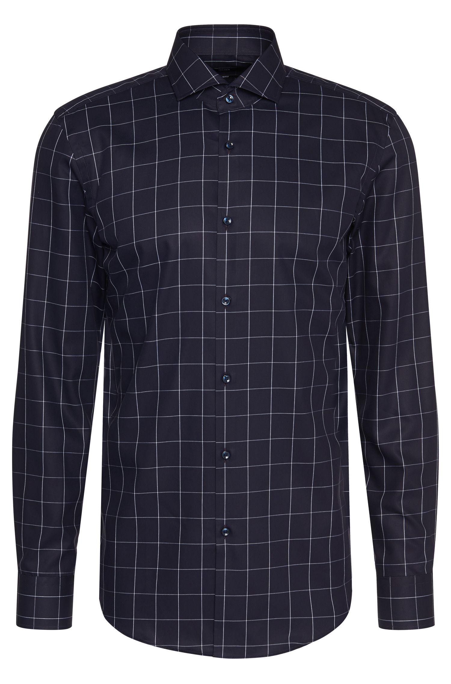 Kariertes Slim-Fit Hemd aus Baumwolle: 'Erondo'